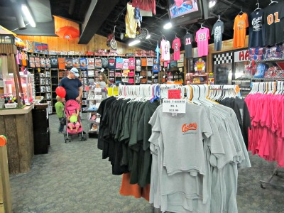 The Gift Shop lets you find lots of Cooter's Place souvenirs to take home!