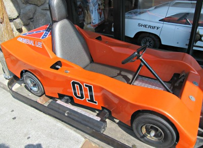 This Dukes of Hazzard Star Car is actually a go cart from the track located inside Cooter's Place
