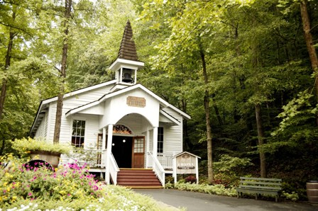 Many wonderful church services are held inside this beautiful little Dollywood Chapel!