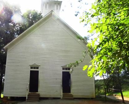 This historical cades-cove church brings back memories of that