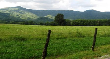 This beautiful Cades Cove Smoky Mountain View is one of the area's most photographed spots.