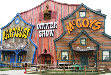 Hatfield and McCoy Christmas Dinner Show Outside is an inviting place to come from great comedy and delicious food.