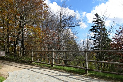 The hike follows an Appalachian Trail Fence for quite a ways.