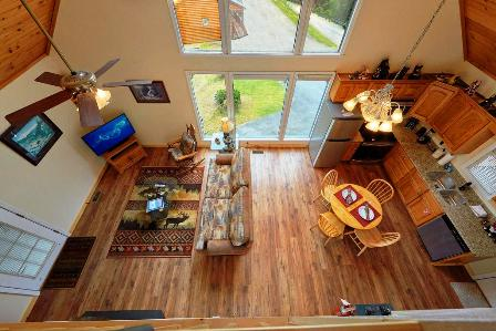 This cabin Rentals INSPIRATION POINT is the perfect choice for a family get-together.