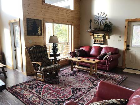 This cabin rentals Love Nest Chalet has everything you need for a romantic getaway!