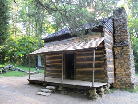 There's lots of history inside this old Cades Cove Cabin.