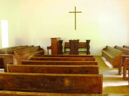 The Cades Cove Cross inside the old church serves as a reminder of God's love.