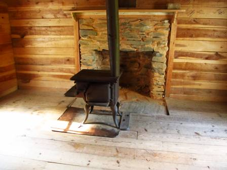 This old timey Cades Cove stove was once used to keep a family warm.