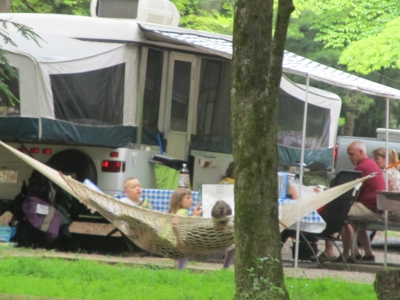 An excellent idea!  Camping locations hammock to relax in.