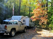 There's lots of room to set up camp at the Cataloochee Campground Site