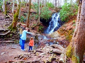 At Cataract Falls children love to see the beauty of these falls