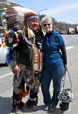 Meet with real Cherokee Indians and have a photo taken with them.