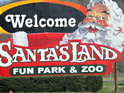 When you visit the Indians of Cherokee, be sure and drop by Santa's Land.