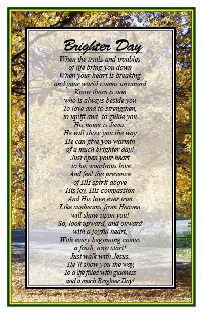 Let the sunshine with christian-poem-4 -brighter-day