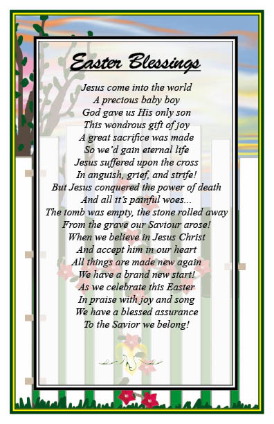 Christian Easter Poems Photo Album - Perfect plan for your easter day