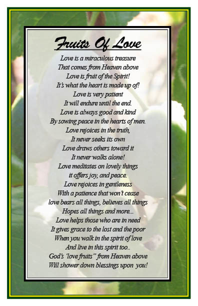 christian-poems-8 is gives you fruits of love.