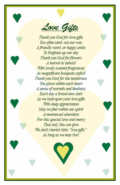 Read about love gifts in christian-poems 2
