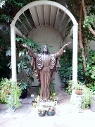 The Christ In The Smokies Garden is beautiful.