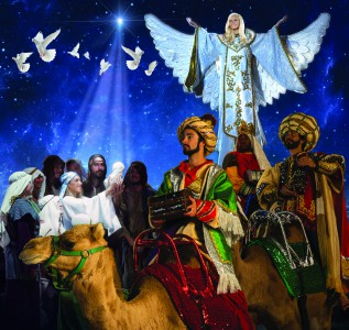 A beautiful live nativity is performed during Dolly Parton's Stampede Christmas.