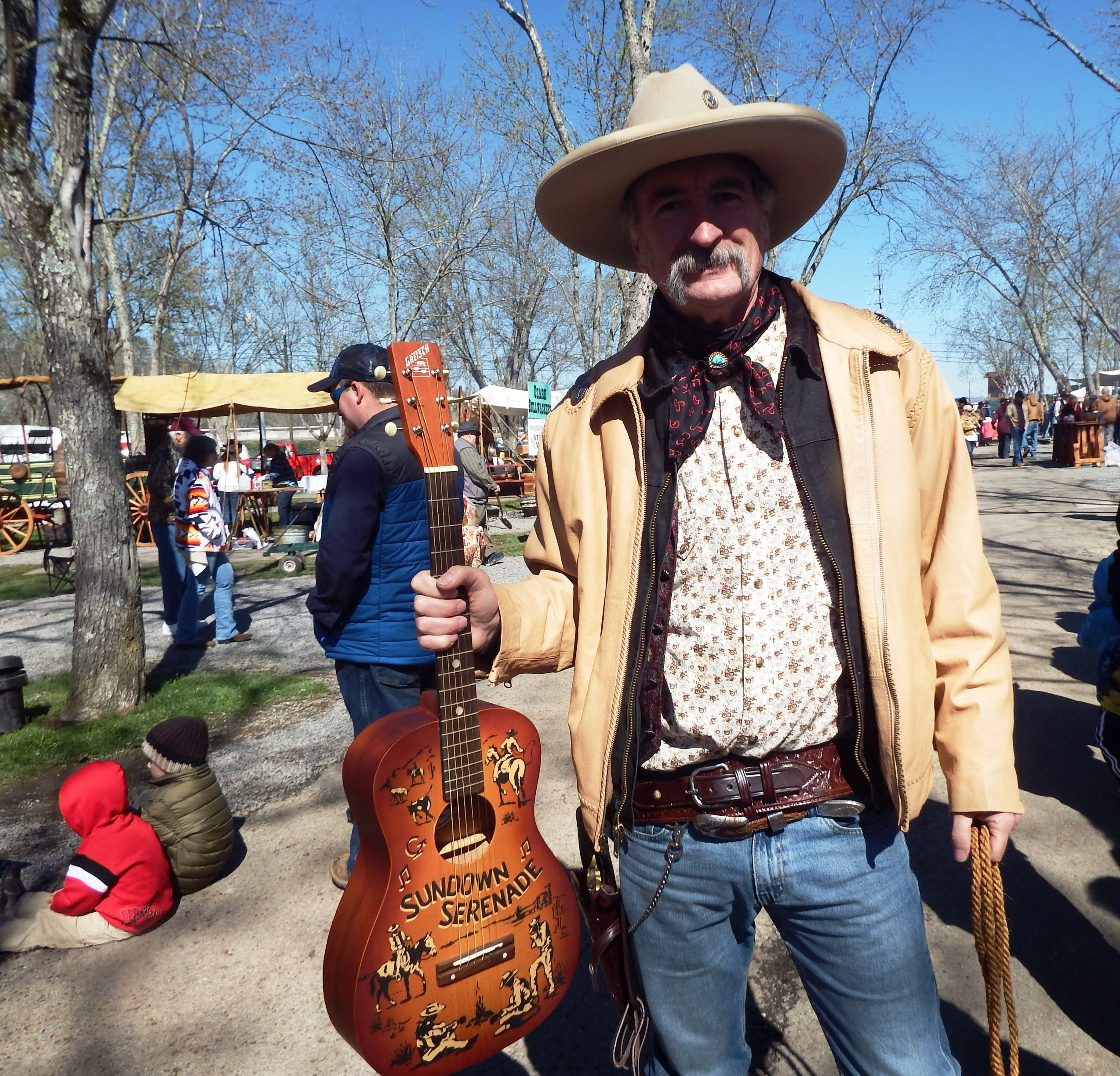 This Chuck Wagon Cook Off singing cowboy is ready to