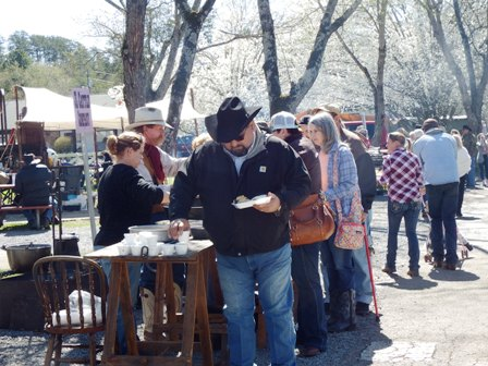 The height of the festival is the Chuck Wagon Cook Off Food!