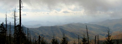 You'll become memorized by this amazing Clingmans Dome view.