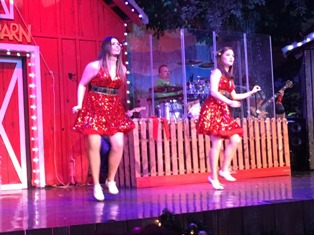 The Comedy Barn Christmas Cloggers will have you wanting to move along with them!