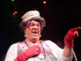 During A Country Tonite Christmas Grandma brings some crazy antics to the stage.