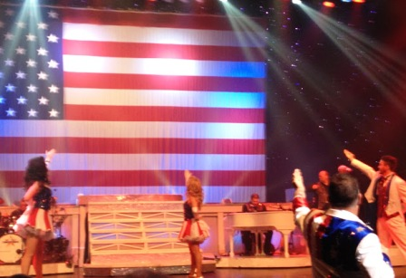 The patriotic Country Tonite salute to the flag makes every citizen proud to be an American.