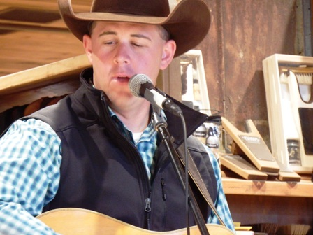 This Cowboy Church Cowboy Sings In The Praise of Jesus' Name.