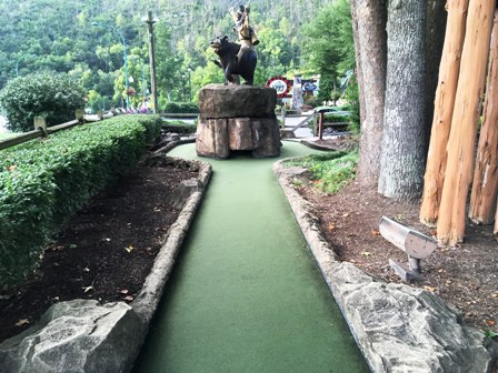 This indian riding the Davy Crockett Mini Golf Bear cannot wait to see you there!!