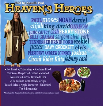 At Biblical Times Dinner Theater Heaven's Heroes plays host to several famous celebrities.