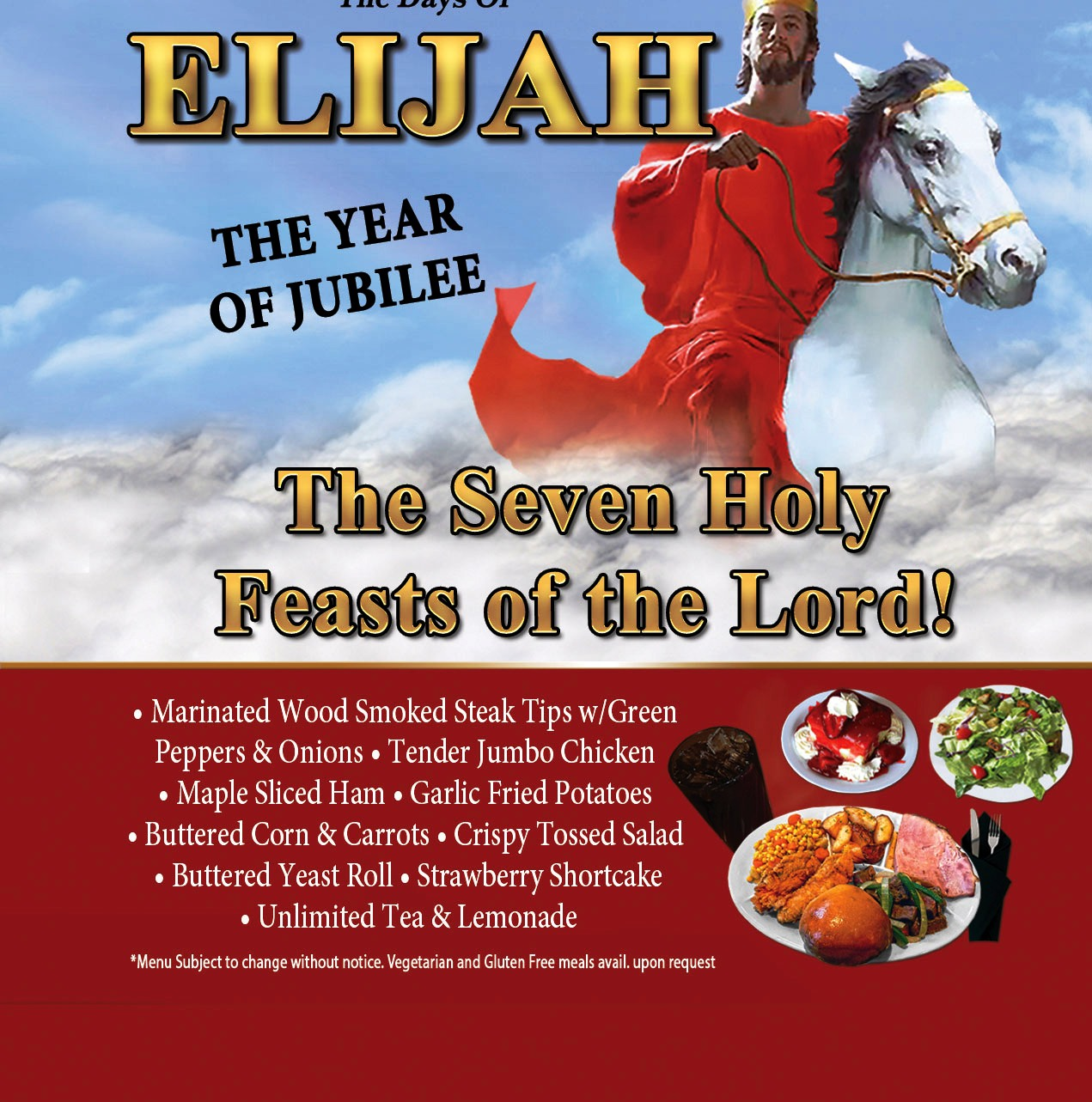 The Biblical Times Dinner Theater Days of Elijah is a wonderful story of this famous Biblical character.