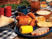 This Dolly Parton Stampede Meal is a good southern-style food!