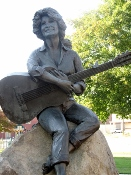 This Dolly Parton Home Statue is famous in Sevierville, TN.