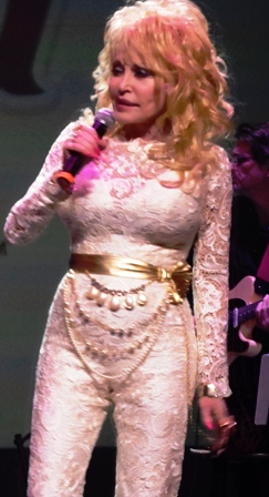 Dolly Parton onstage in Dollywood