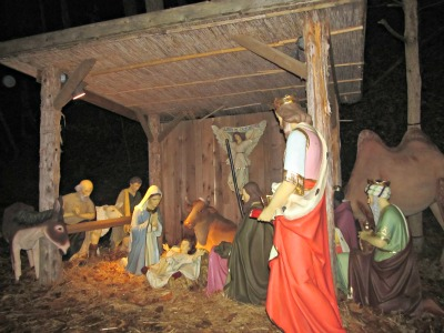 The Dollywood Manger outside the chapel is a beautiful depiction of the birth of Christ.