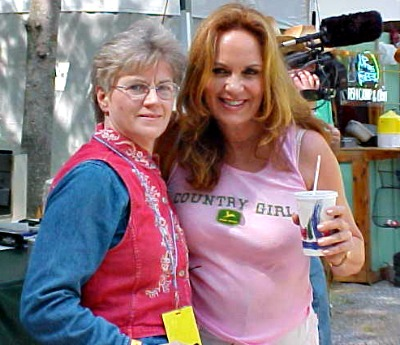 Daisy Duke played by Dukes of Hazzard star Catherine Bach was found at a festival in Pigeon Forge.