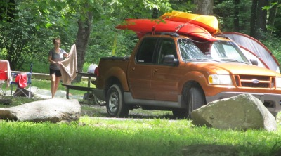 Elkmont has a campground you'll love.  Is quiet, secluded, and located in the mountains.