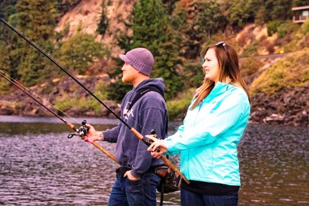 Smoky Mountain fun includes fishing trips!