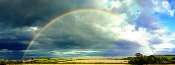A forecast-weather-rainbow is beautiful