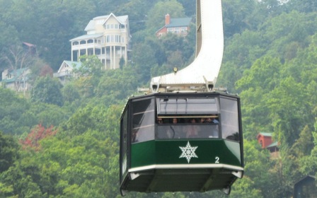 Fly high in the sky with a Gatlinburg Attractions Tram Ride!