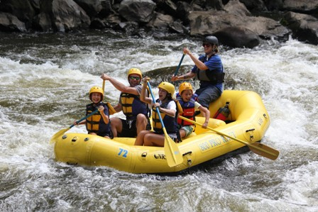 One Gatlinburg Attraction Rafting In The Smokies is only about 27 miles from Gatlinburg as the crow flies!
