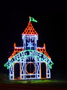 See the Gatlinburg Christmas Trolley Castle inviting you to Gatlinburg Winter Magic.