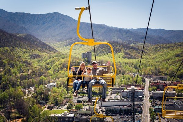 These Gatlinburg Skylift Park riders are in headed for an exciting adventure.