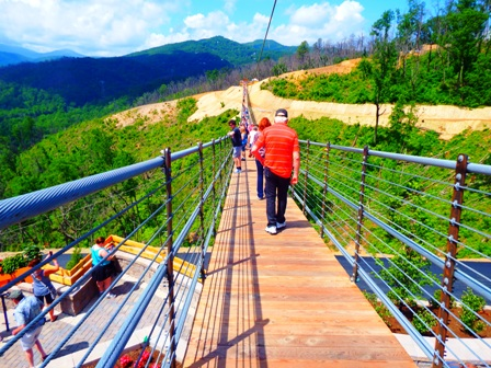 The Gatlinburg Sky Lift Sky Bridge Brings Thrills!