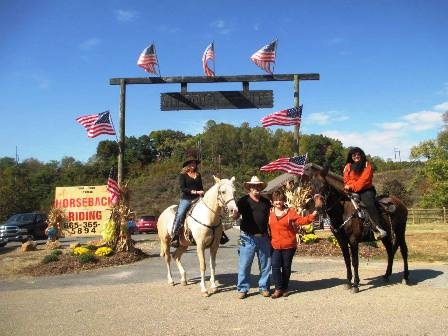 Goldrush Horseback Riding Stables Is A Beautiful Way To See Awesome Views of the Great Smoky Mountains.