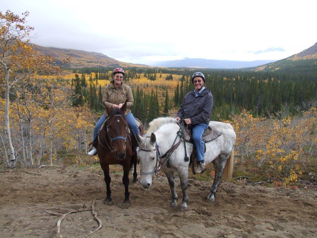 The ride at Gold Rush Stables Gives You A Scenic View Of the Mountains.
