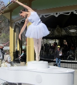ballerina at dollywood grand-opening