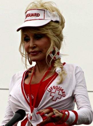 dolly parton has a grand-opening parade